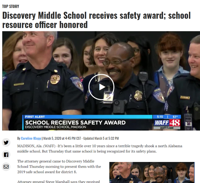 DMS Receives Safety Award