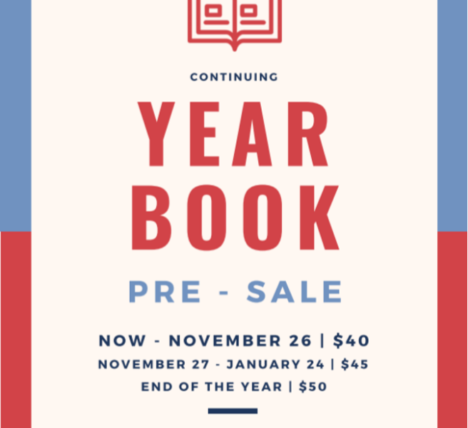 Yearbook Pre-Sale Ends 1/24