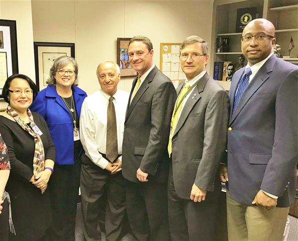 Board members and Superintendent Parker meeting with legislators in Montgomery