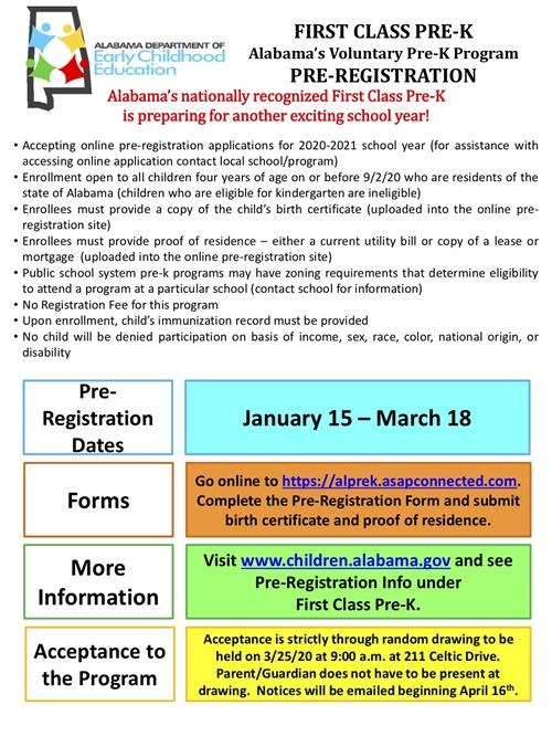 PreRegistration Flyer