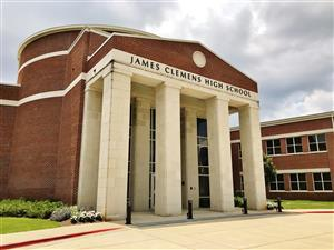Front entrance to James Clemens High School in Madison, Alabama