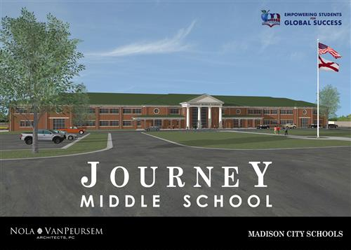 architects rendering of new middle school