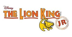 Banner saying The Lion King Jr. with cartoon image of a young Lion
