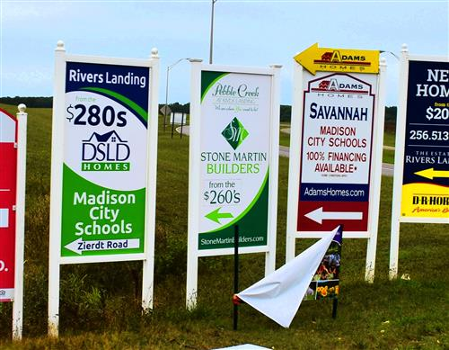 Home Sale Signs Promoting Madison City Schools
