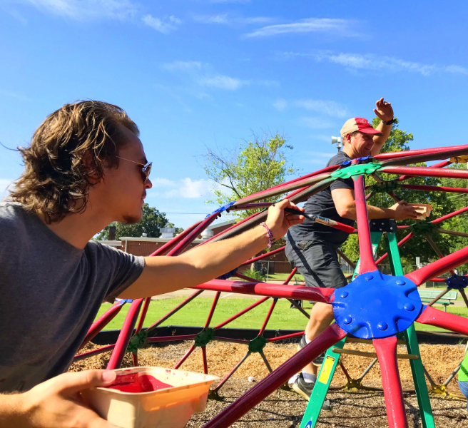 Madison Elementary Playground Gets Makeover, Thanks to Volunteers