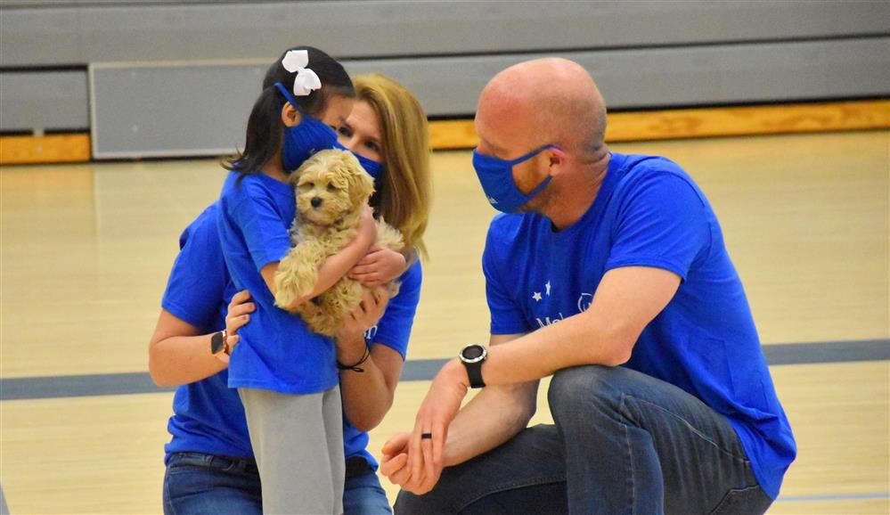 JCHS Grants Puppy Dream To Young Madison Girl